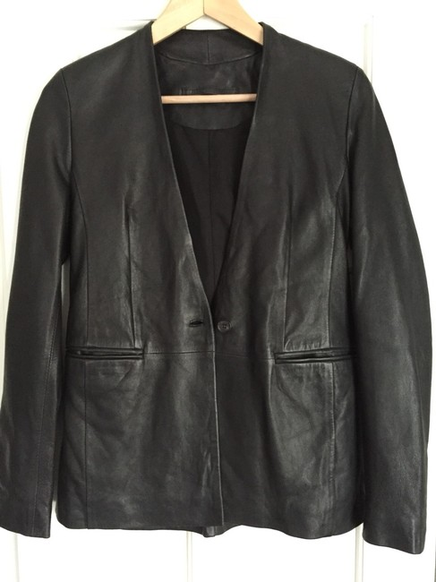 AllSaints Leather Black Blazer