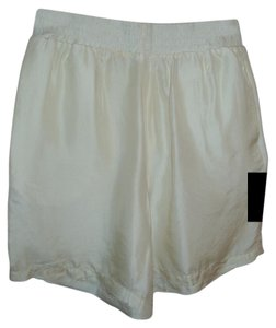 H.L. Spencer Silk Sheer Light Pretty Dress Shorts ivory