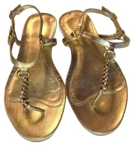 Via Spiga Gold Sandals