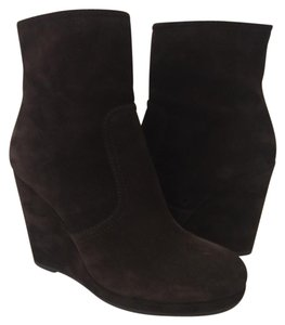 Prada Wedge Wedge Suede Ankleboot Brown Boots
