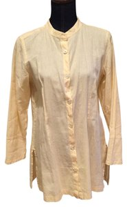 J. Jill Button Down Shirt Light yellow
