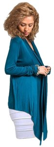 Other Drape High Low Blue Cardigan