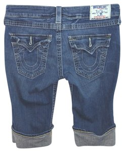 True Religion Blue Jeans Pants Cuffed Shorts