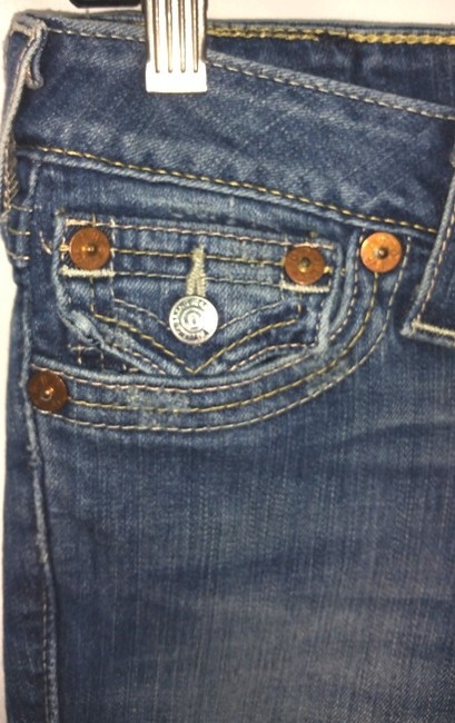 True Religion Blue Jeans Pants Cuffed Shorts Image 2