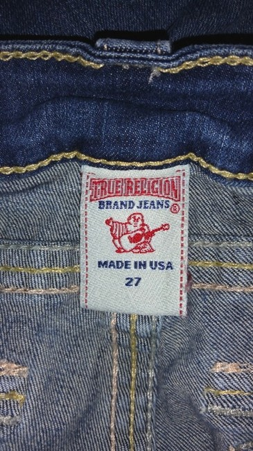 True Religion Blue Jeans Pants Cuffed Shorts Image 4
