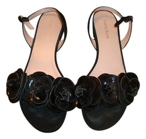 Taryn Rose Black Suede and Patent leather Sandals