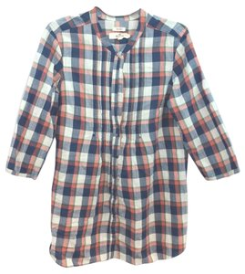 Hollister Plaid Cotton Tunic