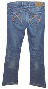 A|X Armani Exchange Blue Denim Straight Leg Jeans-Medium Wash