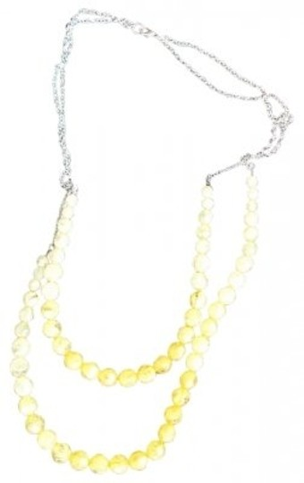 Vintage Vintage Yellow Tourmaline Stone Long Necklace