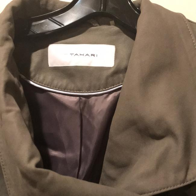 Tahari Mink Leather Jacket Image 2
