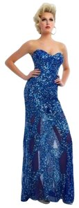 Mac Duggal Couture Gown Sequined Prom Size 8 Dress