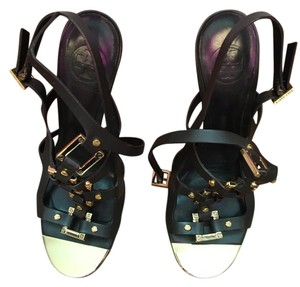Tory Burch Brown & Gold Sandals