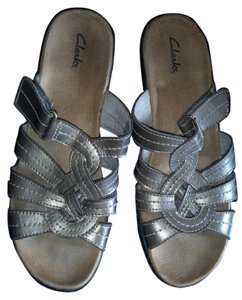 Clarks Pewter Sandals