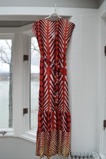red, orange, yellow multi Maxi Dress by Forever 21