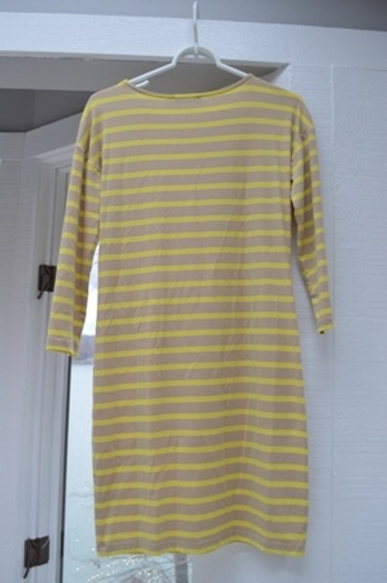 The Limited short dress beige and yellow striped on Tradesy