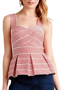 Anthropologie Top Red and white