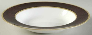 Retired Pattern Set Of 4 Noritake Mahogany Rose Soup Bowl