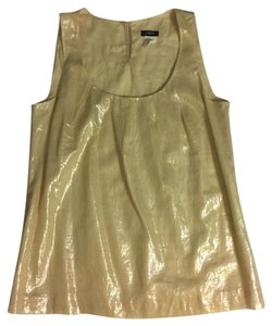 J.Crew Lined Shimmery Top Light Gold