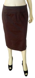 Elie Tahari Pencil Size 6 P2043 Skirt brown
