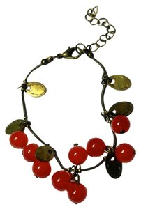 New Cherries Bracelet Red Copper Adjustable J2513