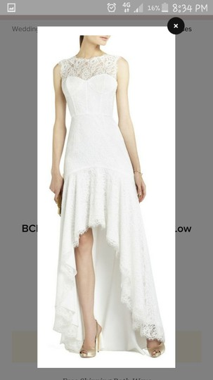 BCBGMAXAZRIA Light Ivory..white Lace Bcbg Simple Feminine Dress Size 8 (M)