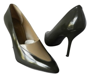 Marni Perfect Pointed Toe. 2-toned Leather. brown Pumps