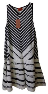 Missoni short dress Black & White Dropwaist Godet Skirt Knit on Tradesy