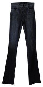 J Brand High Rise Slim Baby Boot Cut Jeans-Distressed