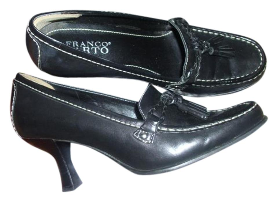 2fb7005220a Franco Sarto Tassel Leather Kitten Heel Professional Oxford black Pumps  Image 0 ...