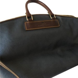 Dooney & Bourke Satchel in Dark Turqoise With Brown Trim