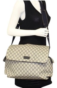 Gucci Navy Blue And Gray Diaper Bag