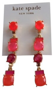 Kate Spade KATE SPADE NEW YORK Cause A Stir Linear Pink Drop Earrings
