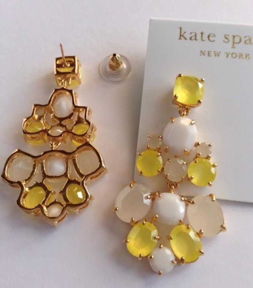 Kate spade yellow new york stone chandelier earrings tradesy arubaitofo Gallery