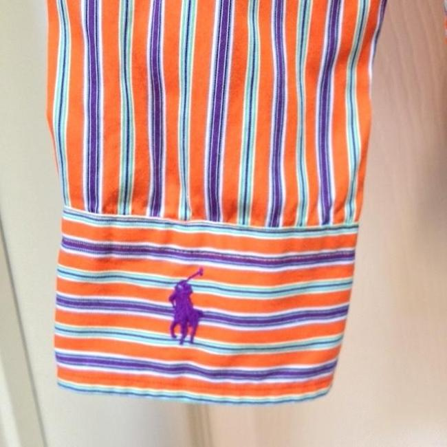 Ralph Lauren Top Striped Orange/Green/Purple