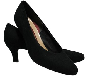 Easy Spirit Suede Look Black Pumps