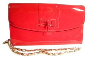 Vintage Man Made red Clutch