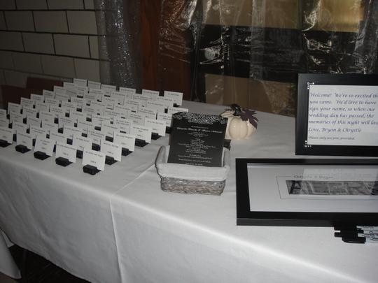 Black 97 Crystal Wrapped Place Card Holders