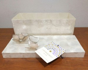 Cynthia Rowley Mother Of Pearl Jewelry Trinket Box Decoration
