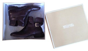 Michael Kors Bootie Gold Brown, Coffee Boots