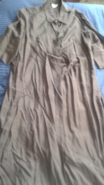 Item - Brown Silk Button Down Long Casual Maxi Dress Size 18 (XL, Plus 0x)