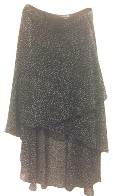 Forever 21 Skirt Black with white polka dots