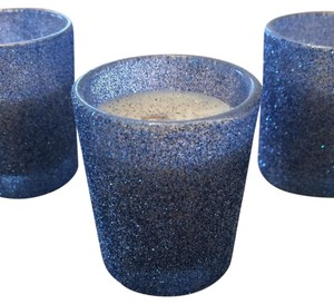 Candle FX Blue Glitter Votive/Candle