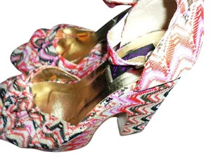 Yoki Pink Multicolor Striped Platforms
