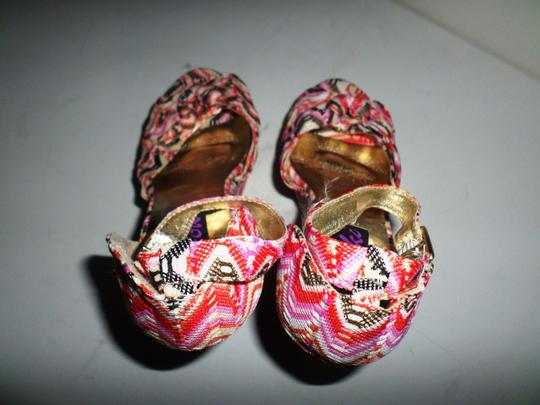 Yoki Pink Multicolor Striped Platforms Image 1