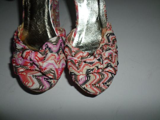 Yoki Pink Multicolor Striped Platforms Image 2