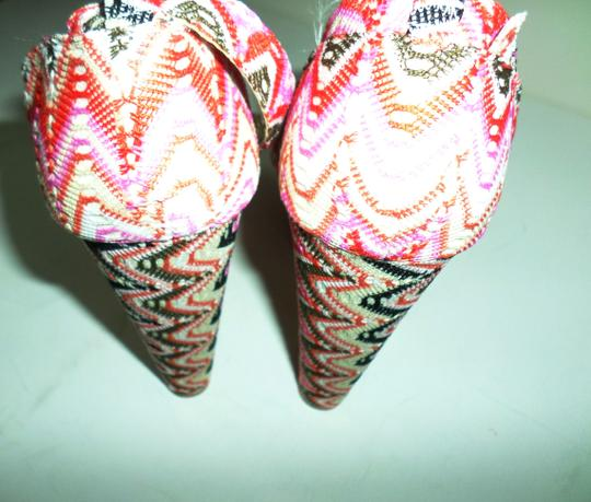 Yoki Pink Multicolor Striped Platforms Image 3