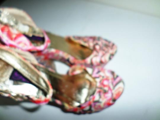 Yoki Pink Multicolor Striped Platforms Image 4