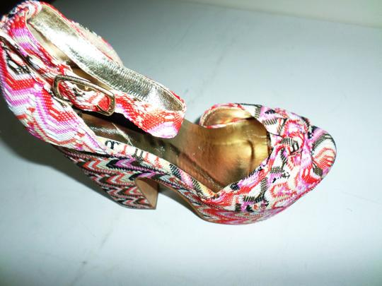 Yoki Pink Multicolor Striped Platforms Image 5