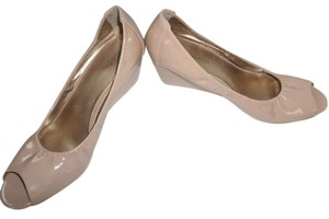 BCBG Paris Nude Wedges