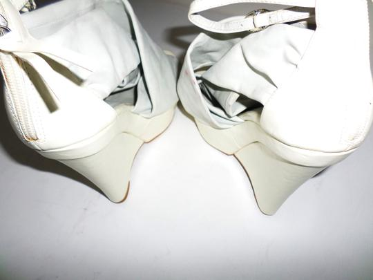 Not Too Coy White Wedges Image 6